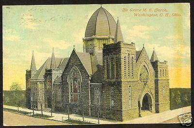 '11 WASHINGTON COURT HOUSE C.H. Ohio Postcard ME Church