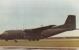 LE Postcard Transall C160 Transport No.62 Wing German Air Force Wunsdorf WG NT24