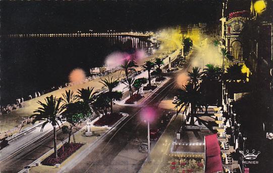 France Nice La Promenade des Anglais effet de nuit Photo