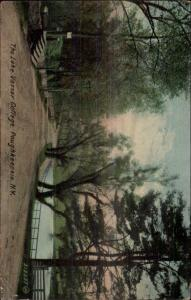 Poughkeepsie NY Lake Vassar College c1910 Postcard