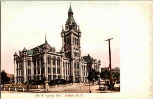 City and County Hall, Buffalo NY Undivided Back Vintage Postcard V22