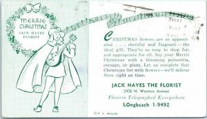 1950 Chicago Advertising Postcard JACK HAYES THE FLORIST 5456 N. Western Ave.