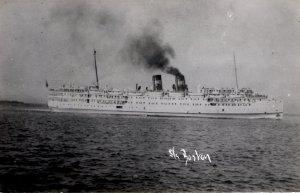 RPPC - The S.S. Boston - Steam Passenger Ship  -- c1940
