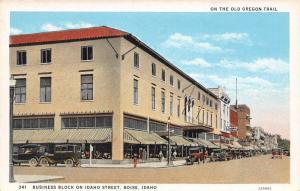 Boise ID~Business Block~Idaho Street~Store Display Windows~Kress~1920s Cars~PC