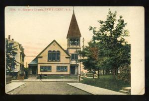 Pawtucket, Rhode Island/RI Postcard, Saint Edwards Church