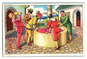 Miracle Fountain, Schlaraffenland, Echte Wagner German Trade Card *VT31R