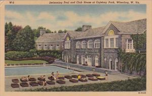 Swimming Pool And Club House At Oglebay Park Wheeling West Virginia