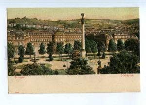 247135 GERMANY STUTTGART Shlossplatz Vintage embossed postcard