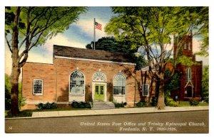 NY -  Fredonia. US Post Office & Trinity Episcopal Church