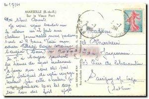 Old Postcard Marseille B R On the port Heavens