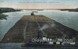 Log Raft On The Mississippi River Steamer, Steam Boat, Steamboat, Ship, Ships...