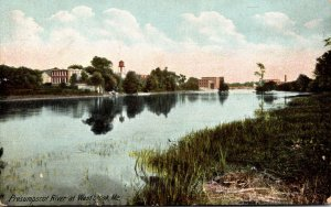Maine Westbrook Scene On The Presumpscot River 1907
