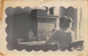 1910 Telephone Operator RPPC Real Photo Postcard