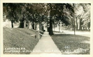 Entrance Katherine St Paul School Walla Walla Washington 1920s Postcard 6083