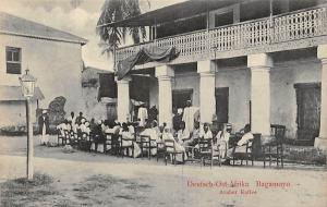 German East Africa Deutsch-Ost-Afrika Tanzania Bagamoyo, Araber Kaffee, Postcard