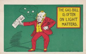 Old Man upset over gas bill, 1900-10s