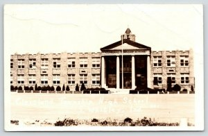 South Whitley Indiana~Cleveland Township High School Faces the Front~RPPC 1944