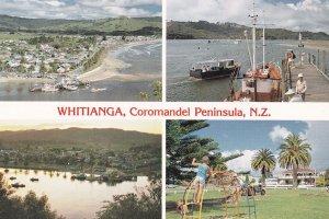 Whitianga Childrens Playground Boats New Zealand Postcard