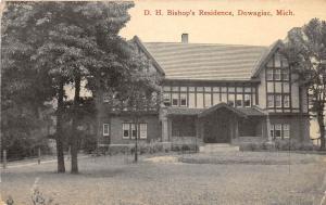 B94/ Dowagiac Michigan Mi Postcard c1910 D.H. Bishop's Residence Home