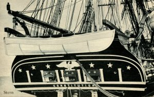 MA - Charlestown, Boston. USS Constitution (Old Ironsides), Stern
