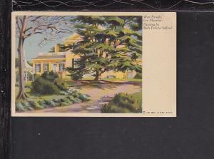 West Facade,Lee Mansion,Arlington,VA Postcard