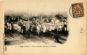 CPA DIEGO-SUAREZ Place d'Armes Arrivee du General MADAGASCAR (709609)