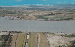 Aerial View, The George Massey Tunnel, Deas Island Tunnel, Fraser River, Vanc...