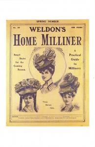 Nostalgia Postcard Weldon's Home Milliner c1910, Hats Fashion Repro Card NS23