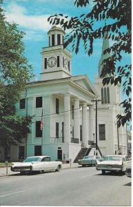Maysville Kentucky Mason Courthouse-1960 Cadillac--1960 Plymouth--compare fins-