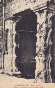 Eglise Abbatiale, Porche- Le Trumeau Supportant Le Linteau, Moissac, France, ...