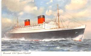 Cunard RMS Queen Elizabeth Ship Unused