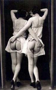 Vintage Risque Nude Lesbians, Intimacy, Derriere REPRO Postcard Z051166