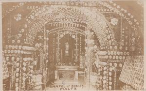 Chapel Of Bones Malta Antique Real Photo Postcard