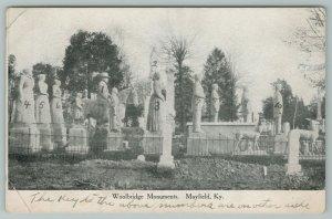 Mayfield Kentucky~Woolbridge Monuments~Vintage Postcard