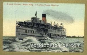 Montreal Canada, du Canada R & O Steamer, Rapids King  R & O Steamer, Rapids ...
