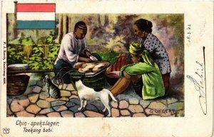 CPA INDONESIA-Chin spekslager-Toekang babi (329867)