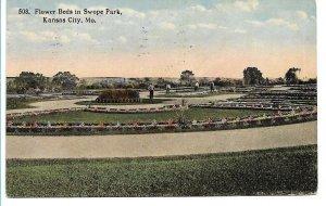 Kansas City, MO - Flower Beds in Swope Park - 1914