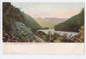 Asheville NC French Broad River UDB J.H. Law c 1907