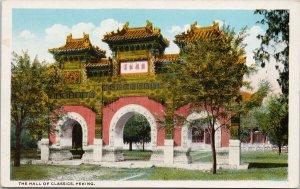 Hall of Classics Peking China Beijing Unused Camera Craft Postcard G5