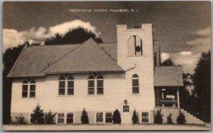 PAULSBORO, New Jersey Postcard PRESBYTERIAN CHURCH Building / Street View c1940s
