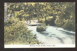 LEETON MISSOURI MINERAL CREEK BRIDGE VINTAGE POSTCARD MO.