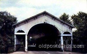 Shelbyville, Indiana USA Vine St. Covered Bridge 1965 postal used 1965