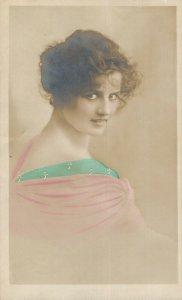 Jugendstil Lady Real Photo Postcard 06.53