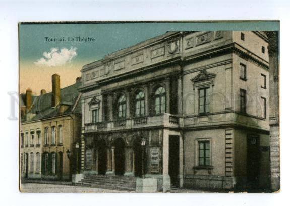 155353 Belgium TOURNAI Theatre Vintage postcard