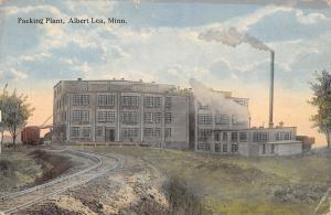 Albert Lea Minnesota~Albert Lea Soth Wilson Packing Plant~Railroad Tracks~c1912
