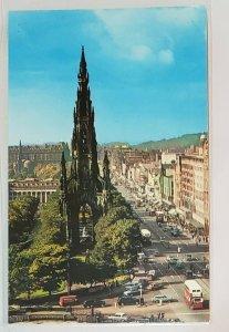 Vintage Postcard:Edinburgh, Princes Street - Scott Monument.
