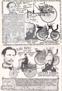 Karl Benz Cycling Bicycle 2x Limited Edition Art Postcard s