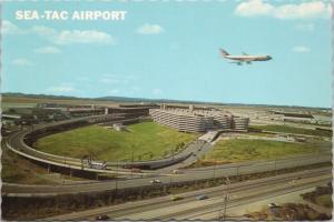 Sea-Tac Airport Seattle Tacoma WA Washington Unused Vintage Postcard D52