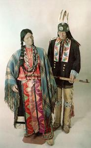 US  PC1713 FORMAL DRESS OF WISCONSIN INDIANS