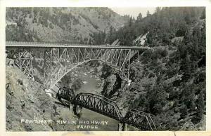 CA, Pulga, California, RPPC, Feather River Canyon,Highway Bridge,Railroad Bridge